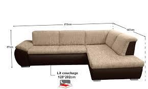 canape angle cuir taupe canapé d angle convertible lit avec coffre bimatière en tissu brun
