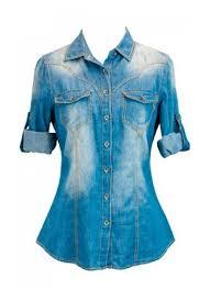 denim blouses womens sleeve washed denim blouse