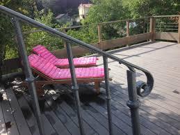 piscine sur pilotis réalisations d u0027aménagement extérieur bois à lyon rhône alpes