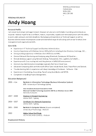 sample resume tradesman awesome idea profile for resume 12