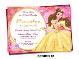 sample disney princess party invitations printable 35 for