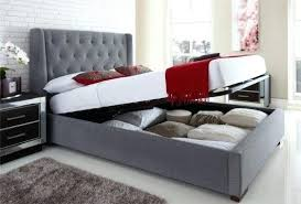 Grey Upholstered Ottoman Bed Upholstered Ottoman Storage Bed Upholstered Winged Ottoman Storage