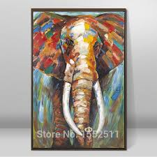 hand painted abstract elephant oil painting pop art modern abstract canva oil painting the living room