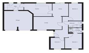 three bedroom floor plans 3 bedroom floor plan bungalow modern house plan