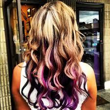 dye bottom hair tips still in style best 25 purple highlights underneath ideas on pinterest purple