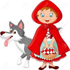 red riding hood wolf illustration qjkrev
