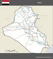 iraq map vector maps of iraq