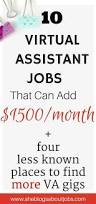 virtual assistant jobs from home that pay really well virtual