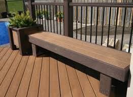 Garden Bench With Planters Trex Bench With Planter Box End Backyard Ideas Pinterest