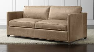 Apartment Size Loveseats Dryden Leather Apartment Sofa Crate And Barrel