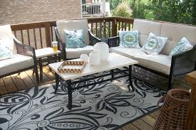 Patio Area Rugs Outdoor Rug On Wooden Deck Area Rug Ideas