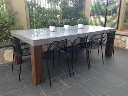 Diy Concrete Tables Beautiful Design Concrete Outdoor Dining Table