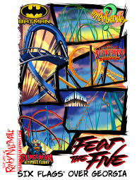 Six Flags Ga Six Flags Over Georgia Fear The Five Islandboy Graphics And Apparel
