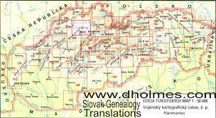 Slovakia Map Régi Magyarország