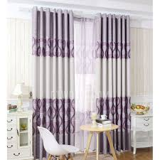 Thick Purple Curtains Thick Blackout Polyester Fabric Purple Color Best Bedroom Curtains