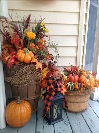 Astounding Outdoor Decorating For Fall 95 With Additional House