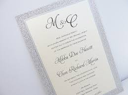wedding invitations glitter glitter wedding invitation