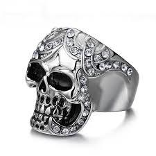 vintage rings aliexpress images Vintage diamond stainless steel skull ring pluto99 jpg