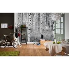 Wall Mural White Birch Trees Wall Murals Wall Decor The Home Depot