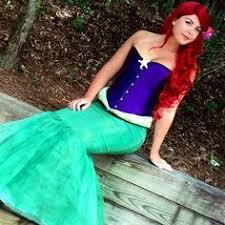 Ariel Costume Halloween Omglitzy Tutorial Mermaid Ariel Cosplay Halloween