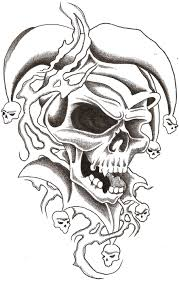 evil skull tattoo designs cliparts co