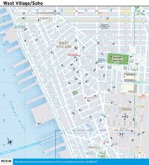 Manhattan New York Map by New York City Map West Village And Soho Moon Guides