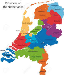 netherlands map images colorful netherlands map with regions and cities royalty free