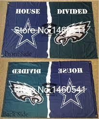 dallas cowboys philadelphia eagles house divided flag 3ft x 5ft