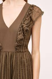 Pierre Dress Anthropologie Holding Horses Cheshire Dress In Brown Lyst
