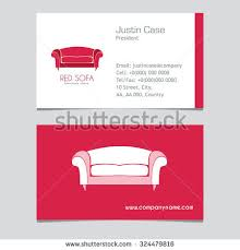Home Decor Furniture Store Red Chair Business Sign Vector Template Stock Vector 324226550