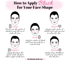 how to apply blush for your face shape the blondeshell