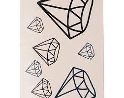 diamond tattoo etsy