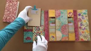 Handmade Photo Albums My Handmade Vintage Mini File Folder Album Journaling Book البوم