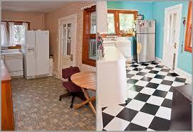 black and white kitchen floor interior design