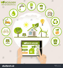 flat design modern infographic ecology concept stock vector