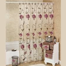 Lace Shower Curtains Sheer Bath Shower Curtains And Shower Curtain Hooks Touch Of Class
