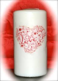 personalized candle personalized candles for valentines day candles
