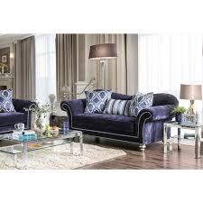 Transitional Style Furniture - tarani transitional style microfiber loveseat furniture store