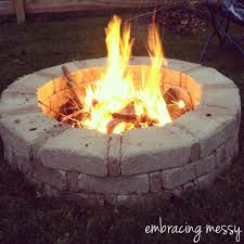 Backyard Fire Pit Diy by Simple Diy Fire Pit 36 Trapezoid And 35 Rectangle Paver Blocks