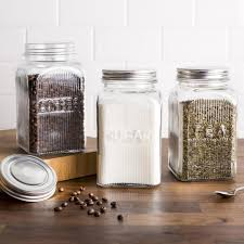 clear glass canisters for kitchen ksp vintage glass canister with lid set of 3 clear kitchen