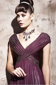 couture plum v neck satin evening dress 1811592