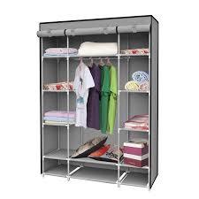 amazon com ids portable clothes storage closet with shelves 53