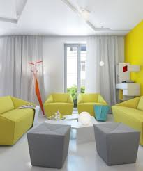 Yellow Leather Sofa by Apartment Classy Yellow Leather Sofa And Grey Wooden Coffee Table