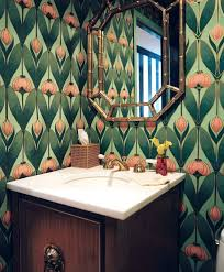 bathroom wallpaper ideas water resistant wallpaper bathroom pin of the week wallpaper in tiny