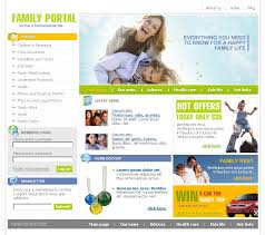 informational website templates website template 9512 portal family harmony custom website