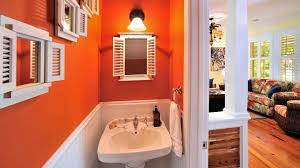 Orange Powder Room Casa Feliz Key West House Rental Last Key Realty