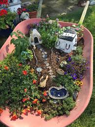fairy garden miniatures painted rocks and succulents make a