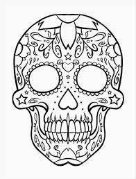 halloween skeleton head coloring pages halloween fun party