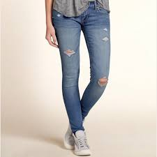 hollister light wash jeans hollister jeans light wash ripped 00 nwot poshmark