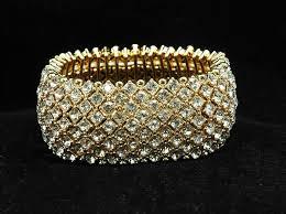crystal rhinestone cuff bracelet images Free shipping gold crystal bridal cuff bracelet wedding bracelet jpg